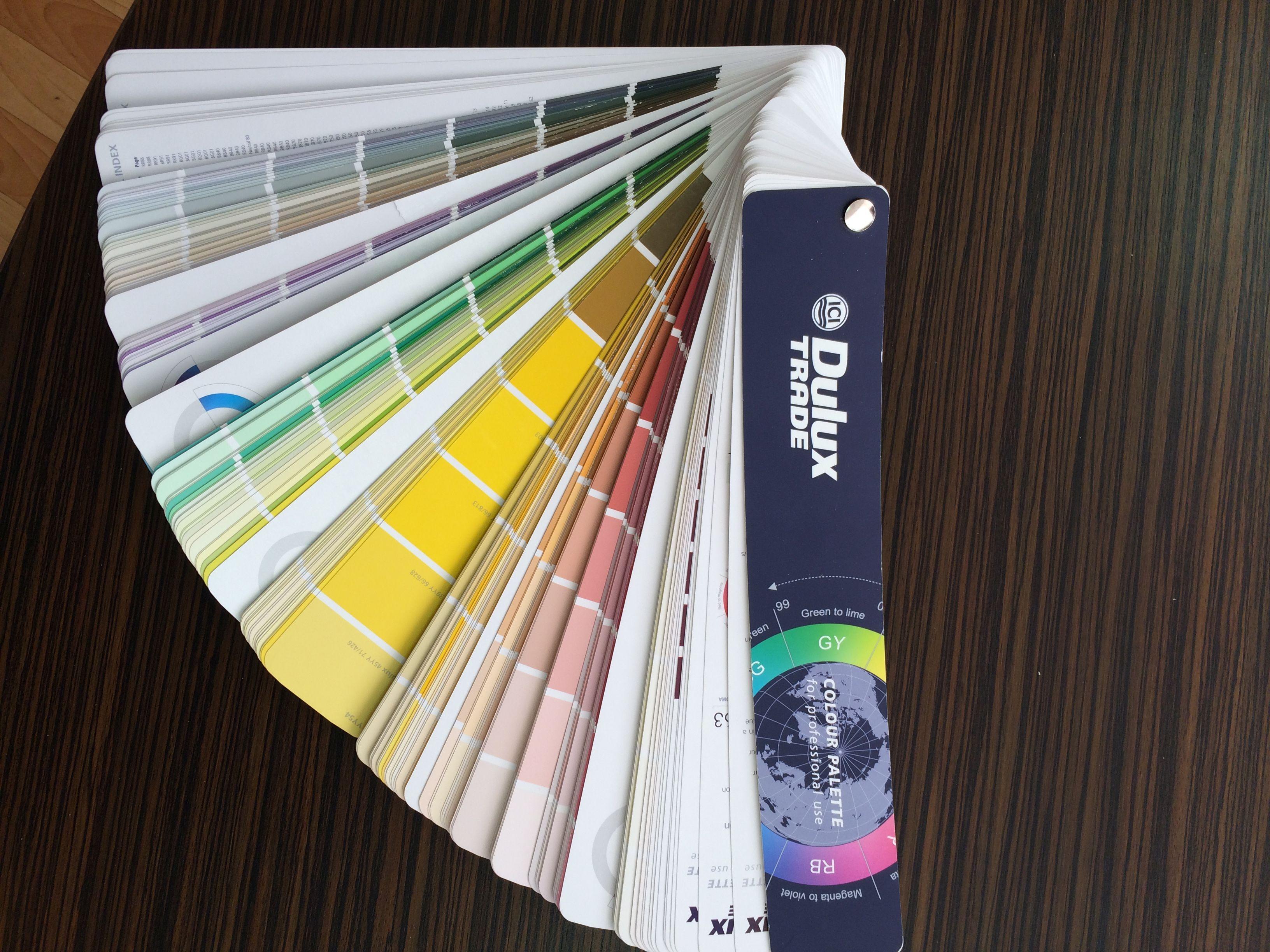 Цветовая палитра колеровки Dulux